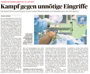 Spitäler Gesundheitspolitik Kaspar Sutter